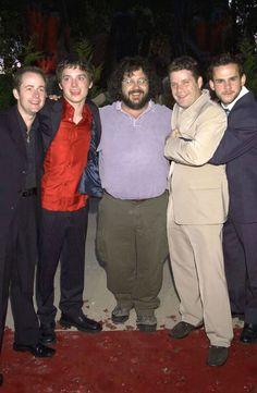 Billy Boyd, Elijah Wood, Peter Jackson, Sean Astin, and Dominic Monaghan