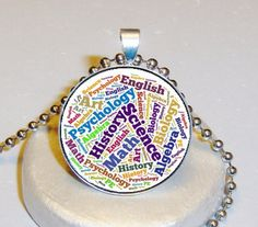 Teachers Necklace $5.00 - Personalized With Your Image $10.00 at www.pifs.etsy.com