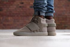 Cheap Adidas Tubular Invader Strap Men US 7 Gray Sneakers Parenting