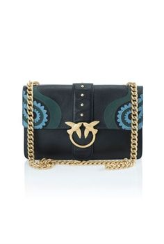 Pinko Inlaid leather shoulder bag b992191d1a31e