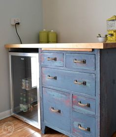 furniture mini fridge in cabet cabinet