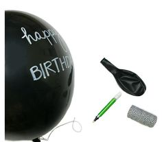 Chalkboard balloons - so fun!