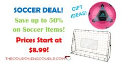 Today you can get up to 50% Off on Soccer Items! Prices start as low as $8.99! Don't miss out on this awesome deal!  Click the link below to get all of the details ► http://www.thecouponingcouple.com/soccer-items/ #Coupons #Couponing #CouponCommunity  Visit us at http://www.thecouponingcouple.com for more great posts!