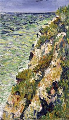 Port en Bessin, a Cliff - Paul Signac
