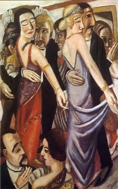 Max Beckmann- Dancing bar in Baden  1923