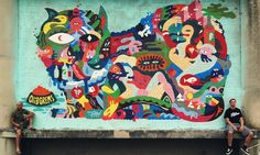 Artista usa cores vivas pra espalhar sua arte por diferentes plataformas-Oli-B