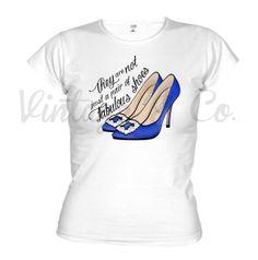 Camisetas con los manolos de carrie ilustración exclusiva by Vintage&Co. + info vintageandco@hotmail.es