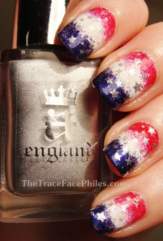 The TraceFace Philes 4th of July or Memorial Day #nail #nails #nailart