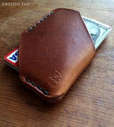 Leather Card & Cash Holster | For those days when you're toting around a bit of cash and a c... | Wallets & Money Clips