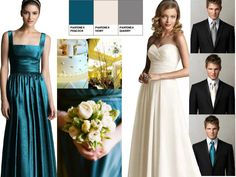 ce5bdbbc910 Bridesmaids   PANTONE WEDDING Styleboard   The Dessy Group