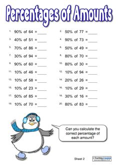 Do your children struggle to understand percentages? The Percentages Penguins are here to help! This resource pack includes a full teaching guide, activities resources, independent reference materials and printable display goodies! 7th Grade Math Worksheets, Grade 6 Math, Printable Math Worksheets, Math For Kids, Fun Math, Math Math, Math Fractions, Maths, Math Resources