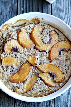 Casserole Recipe : Baked Oatmeal with Peaches