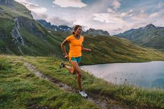 #Ultrarunner Rory Bosio rocks The North Face GTD short-sleeve while #running through the stunning mountains of Chamonix, France.