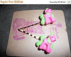 Autumn Sales hair pins bobby pins OOAK set of pink pony by EMTWTT