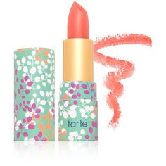 Tarte Cosmetics Tarte Cosmetics Amazonian Butter Lipstick - Coral... ($17) ❤ liked on Polyvore featuring beauty products, makeup, lip makeup, lipstick, lips, beauty, accessories, filler, coral lipstick and tarte