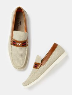 Mast & Harbour Beige Leather Solid Loafers. Loafers OnlineHandsome BoysMen's  FootwearMen's ...
