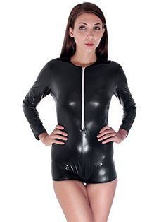 Simplicity Wet-Look Black Long Sleeves Catsuit Sexy Lingerie Bodysuit Simplicity http://www.amazon.com/dp/B00K7W9ALQ/ref=cm_sw_r_pi_dp_QvUdwb1WF7DNJ