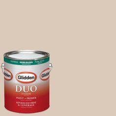 Glidden DUO 1-gal. #HDGWN02 Pink Beige Semi-Gloss Latex Interior Paint with Primer