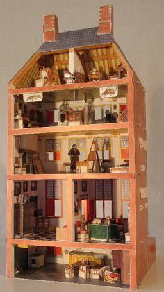 Rembrandt Dolls House, back, pinned by Ton van der Veer