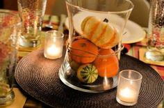 pumpkin vase centerpiece thanksgiving fall aminamichele.com amina michele