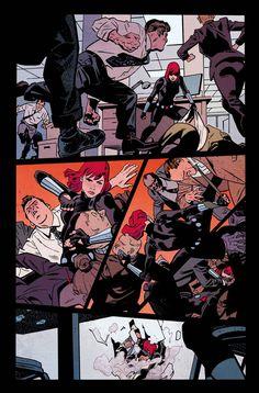 Art from Black Widow #1 by Chris Samnee, Matt Wilson / Samnee is a blessing to the comic industry.