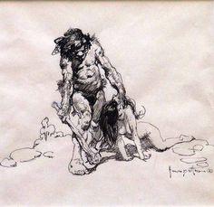Image result for frank frazetta lion
