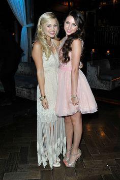 Olivia Holt with Ryan Newman- Sweet 16 Birthday Party Candids