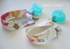 Any TWO SOOTHIE Avent Pacifer Clips  Spotted Owl by adamsblankie, $16.50