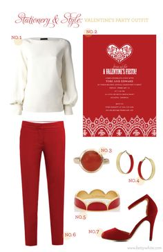 Stationery & Style: Valentine's Party Outfit (click for sources)