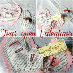 Tear-open valentine cards!