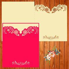 Invitación de la boda tarjeta plantilla, figuras (ai, eps, svg) lasercut descarga inmediata de thehousedesigns en Etsy