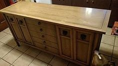 old buffet to kitchen island, kitchen design, kitchen island, painted furniture, repurposing upcycling