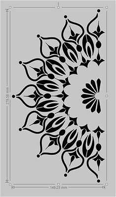 Picture 3 of 9 Mandala Stencils, Stencil Patterns, Stencil Painting, Design Mandala, Mandala Art, Paint Designs, Stencil Designs, Wood Stamp, Paint Colors For Living Room