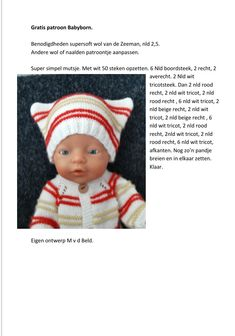 Baby Born, Diy Doll, Dress Making, Baby Dolls, Crochet Hats, How To Make, Puppets, Crocheted Hats, Dolls