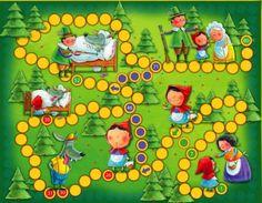 Červená Karkulka - desková hra s pohádkou + CD Games For Kids, Games To Play, Activities For Kids, Preschool Board Games, Math Games, Printable Board Games, Kindergarten, Lego Duplo, Table Games
