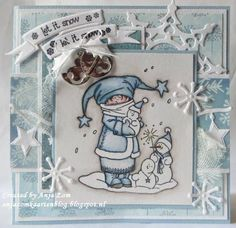 Let it snow. let it snow 3d Cards, Xmas Cards, Marianne Design Cards, Unique Cards, Winter Fun, Copics, Christmas Tag, Making Ideas, Card Making