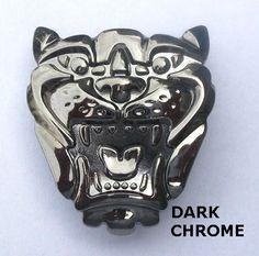 Jaguar Grill Badge Chrome dark chrome original front grill badge