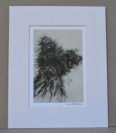 Devil Wears Black Affenpinscher Dog Art Print Signed and Matted By Cori Solomon