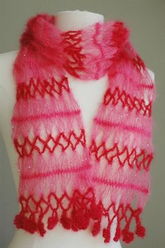 hairpin lace crochet scarf/shawl crocheted lace lacy how to  DIY, handmade, gift, easy
