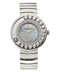Swarovski Crystal Watch, Women's Swiss, Mother-of-Pearl Dial, Stainless Steel Bracelet / Macy's
