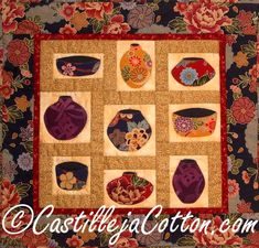 Asian Painted Pots ... by DianeMcGregor | Quilting Pattern - Looking for a quilting pattern for your next project? Look no further than Asian Painted Pots quilt epattern 4262-5 from DianeMcGregor! - via @Craftsy