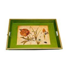 Cynthia Carey Floral Decoupage Tray - $320 Est. Retail - $215 on Chairish.com