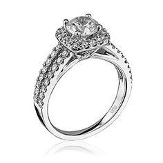 'Luminaire' Engagement Ring... #ScottKay #engagement #bridal #stevesjewelers Scott Kay, SCOT-1666 Luminaire, scottkay.com