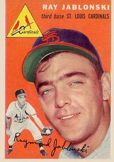 1954 Topps Ray Jablonski #26 Baseball Card                                                                                                                                                     More