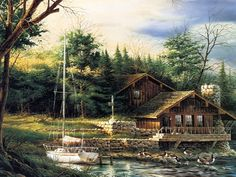 Oil Painting | Free Pictures > Art Terry Redlin landscape oil painting