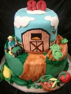 Made by LaKeisha Keck with Sweet Tooth Mother and Daughter cakes. Farming cake.