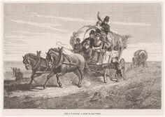 Naar de kermis Allant a la kermesse ca 1870 graveur (prent): Barbant, Ch. kunstenaar: Dillens, Adolphe #Zeeland