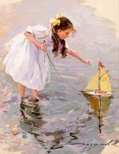 Girl With Sailboat