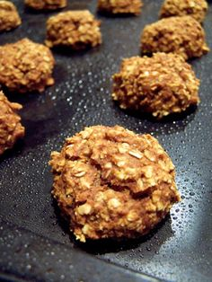 I just made these -- was looking for an easy snack that was sweet but still healthy. Pumpkin Oatmeal Bites, very tasty and super quick to make.