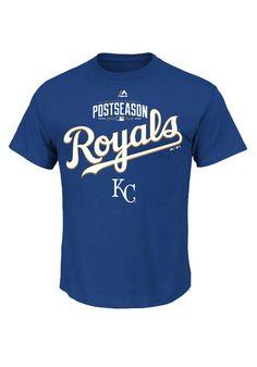Kansas City Royals T-Shirt - Royal KC Royals Ready Winning MLB Post Season 2014 Short Sleeve Tee http://www.rallyhouse.com/mlb/al/kansas-city-royals/a/special-event?utm_source=pinterest&utm_medium=social&utm_campaign=Pinterest-KCRoyals $21.99